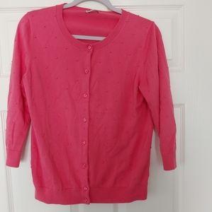 Talbots Womens Cardigan Sweater 3/4 Sleeve SZ M